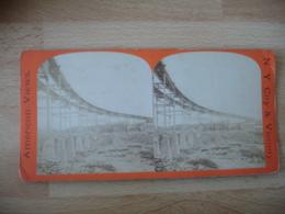 Elevated Rail Road New York  Usa  Photo Stereo Stereoscopique - Photos Stéréoscopiques