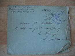 Hopital  Complementaire 59 Saint Nazaire Avec Courrier Cachet Franchise Postale Guerre 14.18 - Marcofilie (Brieven)