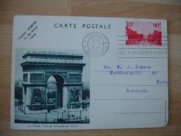 Entier Postal 90 C Rouge  Arc De Triomphe Entier Postal - Entiers Postaux