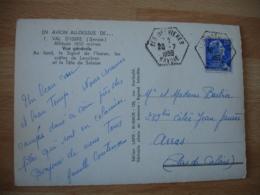 Les Brevieres  Recette Auxiliaire Cachet Hexagonal Obliteration Lettre - Postmark Collection (Covers)