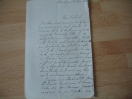 Lettre Autographe 11890 Commandant Beaudouin Forteresse Maubeuge Pour Intervention Aupres General - Handtekening