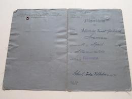 Documents GERMAN / DEUTSCHLAND > Feldwebel Elimar AMMEN > Führerschein/Beurteilung / Impsschein ( See Photo )! - Documents