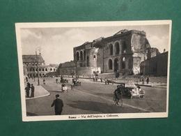 Cartolina Roma - Via Dell'Impero E Colosseo - 1940 - Roma