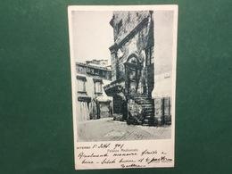 Cartolina Viterbo - Palazzo Medioevale - Cartoleria Mattioli - 1901 - Roma
