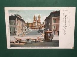 Cartolina Roma - La Chiesa Della Trinità De' Monti Con La Scalinata - 1923 - Roma