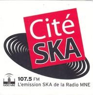 Autocollant -  RADIO MNE 107.5  CITE SKA - Aufkleber