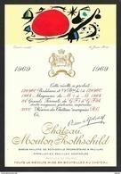 Etiquette De Vin 1969 MOUTON ROTHSCHILD Gouache De Juan MIRO - Künstlerkarten