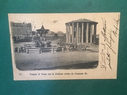 Cartolina Tempio Di Vesta Con La Fontana Eretta Da Clemente XI - 1902 - Roma