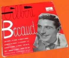 Vinyle 33 Tours (25cm) Gilbert Bécaud N°4 (1956) La Voix De Son Maître  FDLP 1049 - Formats Spéciaux