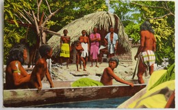 C. P. A. Couleur : Guyane : Autour Du Carbet Boni, Visite Amicale D'indiens Du Voisinage, En 1966 - Guyane