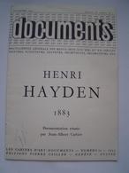 BROCHURE ART 1955 : BIOGRAPHIE Peintre Français D' Origine POLOGNE / HENRI HAYDEN 1883 - 1970 - Vieux Papiers