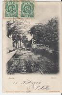 MEXIQUE - MERIDA. CPA Voyagée En 1906 Barrio (lèger Décollement Des Feuilets Bas De Carte) - México