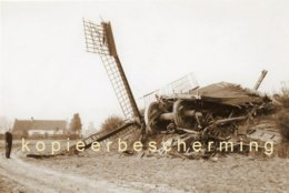 MELSEN Bij Merelbeke (O.Vl.) - Molen/moulin - Historische Opname Van De Ingestorte En Verdwenen Staakmolen In 1960. - Lieux