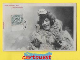 CPA BERGERET  ♥️♥️☺♦♦  FEMME Et ARGENT - Mon Moteur à Moi C'est La Galette  ֎ - Bergeret