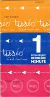 Lot De 3 Tickets Tisséo De Toulouse - Tramways