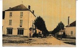 Saône Et Loire CHAROLLES Avenue De La Gare (carte Toilée Et Colorisée) - Charolles