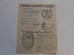 VIEUX PAPIERS - PUBLICITE : Abreuvoirs Automatiques J. AUGROS - Publicités