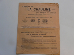 VIEUX PAPIERS - PUBLICITE : LA CHAULINE - Publicités