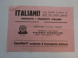 VIEUX PAPIERS - PUBLICITE : Orologeria Italiani - MILANO - Publicités