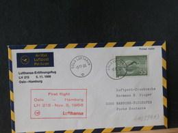 A11/899AD   LETTRE  NORGE   1966  1° VOL  LUFTHANSA - Brieven En Documenten