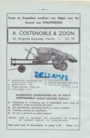 Pub Reclame Org. Knipsel Magazine - Landbouw Agriculture - Machines A. Costenoble & Zoon - Veurne 1951 - Publicités