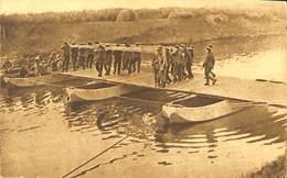 CPA - Belgique - Militaria - Armée Belge - Pontage - B7 - Placement De La Dernière Travée - Guerra 1914-18