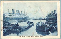 Cartolina Genova Il Porto In Testa Nave Andrea Doria - Viaggiata - Genova (Genoa)