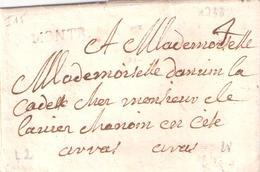 Pas De Calais :- MONTR. (MONTREUIL SUR MER) Lettre De 1733 Lenain 2 Taxe 4 Manuscrite IND.15= 140 € - Marcophilie (Lettres)