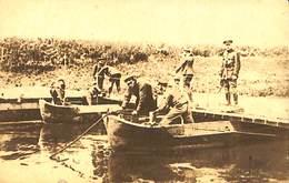 CPA - Belgique - Militaria - Armée Belge - Pontage - B10 - Mise En Place De La Portière - Guerra 1914-18