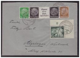 DT- Reich (006126) Brief Mit EG- Str 3 Und MNR 843 Eckrand Oben Rechts Gelaufen Am 2.5.1943 Aus Magdeburg - Duitsland