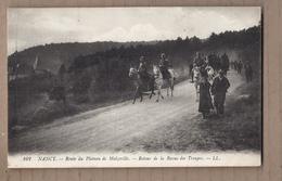 CPA 54 - NANCY - Route Du Plateau De Malzeville  - Retour De La Revue Des Troupes - TB PLAN MILITAIRES Cavaliers - Nancy