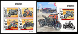 SIERRA LEONE 2019 - Motorcycles. M/S + S/S Official Issue [SL191213] - Sierra Leone (1961-...)