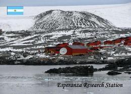 Antarctica Esperanza Research Station Argentina New Postcard Antarktis AK - Altri