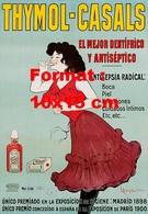 Reproduction D'une Photographie Ancienne D'une Publicité Pour Le Dentifrice Thymol-Casals - Reproductions