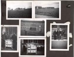 FONDERIES FRANCO BELGE C.1930 Merville Photo X6 Collées Sur Carton 24x19cm - Places