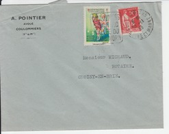 Timbre Du Comité Contre La Tuberculose Sur Enveloppe En 1933 - DAGUIN Coulommiers - Commemorative Labels