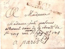 Pas De Calais :- P.61.P. MONTREUIL S MER Lettre De L'An 11 - Marcophilie (Lettres)