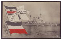 Dt- Reich (006155) Propaganda AK S.M.S. Lothringen Gelaufen Kiel Am 16.12.1909 - Deutschland