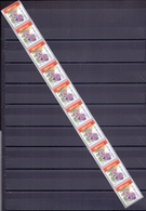 Belgie - 2003 - OBP - **  Rolzegel 107 - Strook Van 10 - Crocus -  Bloemen -  Andre Buzin - Coil Stamps