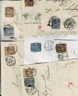 Lot3-7 Lettres Lille Nord Perforés Verley Decroix - Perfins