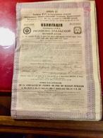 Cie Du Chemin De Fer De  RIAZAN-OURALSK  --------  Obligation  De  187,50 Rouble - Russland