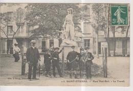 CPA-42-Loire- SAINT-ETIENNE- Place Paul-Bert- Le Travail- - Saint Etienne