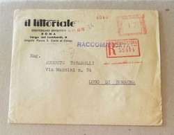 EMA, Busta Raccomandata Il Littoriale Quotidiano Sportivo Roma - 24/11/1942 - Marcofilia - EMA ( Maquina De Huellas A Franquear)