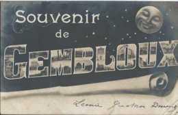 Gembloux - Souvenir De - Multivues - Lune - Circulé En 1905 - Dos Non Séparé - TBE - Gembloux
