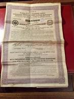 Cie  Du  Chemin  De  Fer  D' ATCHINSK - MINOUSSINSK-----Obligation De 187,50 Roubles - Russland