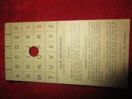 Petit Carton Clé Bécherel Pour Plans Et Cartes / Systéme à Clé Breveté / Vers 1900 - 1920      PGC405 - Mapas