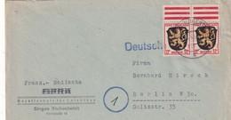 ALLEMAGNE 1946 ZONE FRANCAISE LETTRE DE SINGEN HOHENTWIEL - French Zone