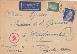 LETTRE. REICH. 13 4 43. PAR AVION. WIEN POUR LA FRANCE.  CENSURE ALLEMANDE - Duitsland