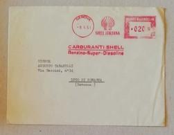 EMA, Busta Shell Italiana Genova - 09/04/1951 - Affrancature Meccaniche Rosse (EMA)