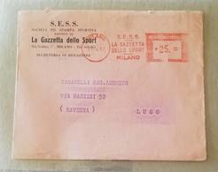 EMA, Busta S.E.S.S. La Gazzetta Dello Sport Milano - 17/04/1957 - Machine Stamps (ATM)